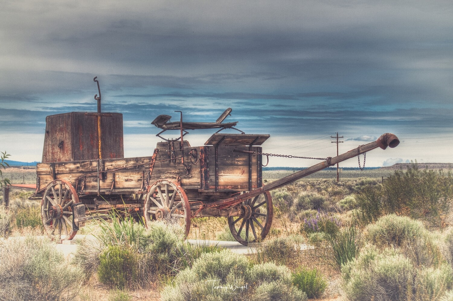 "Farmhouse Art ""Old Rugged Wagon"" Digital Print"