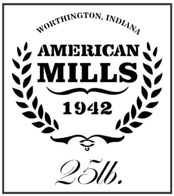JRV American Mills Stencil