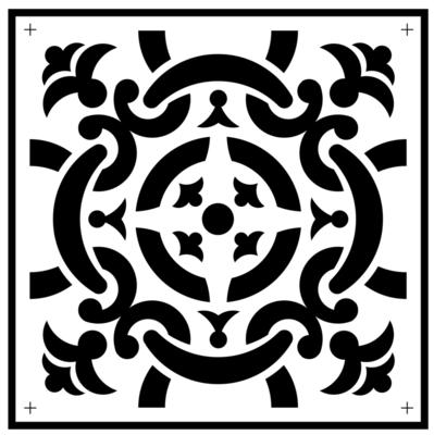 JRV Celtic Tile Stencil