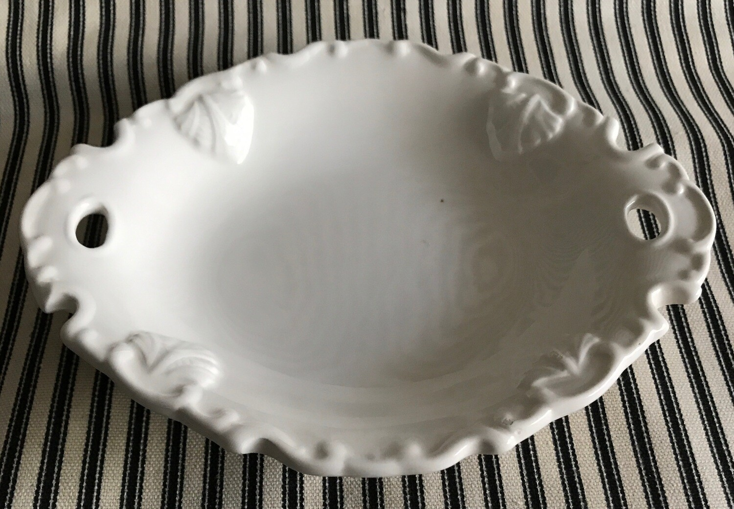 Vintage Rosie White Ceramic Soap Dish