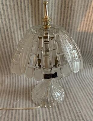 Vintage 24% Lead Crystal Table Lamp Yugoslavia