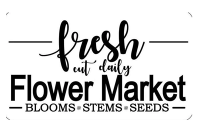 JRV Fresh Flower Market Stencil
