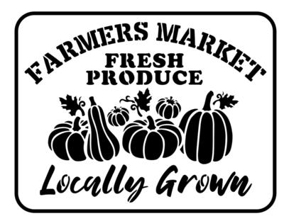 JRV Farmer's Market Stencil