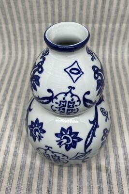 The Bombay Co. Blue and White Porcelain Vase