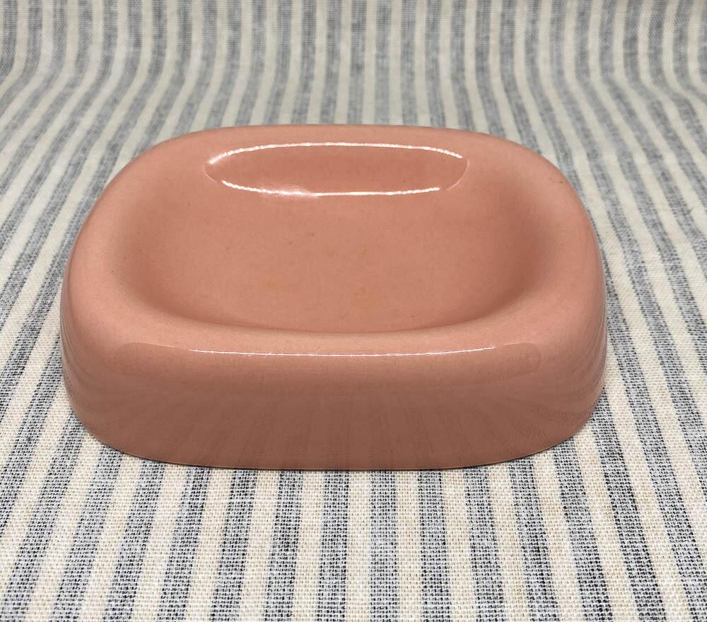 Vintage Inspired Pink Porcelain Soap Dish
