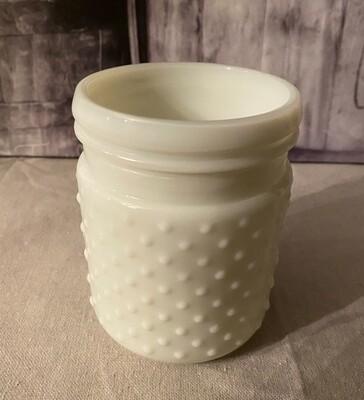 Milk Glass Hobnail 22oz Jar / Vase