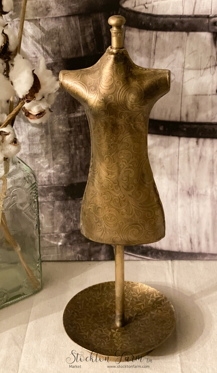 Brass Dress Form Jewelry Display
