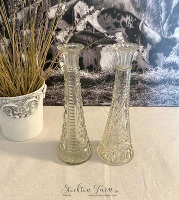 Anchor Hocking Stars & Bars Clear Bud Vase 9