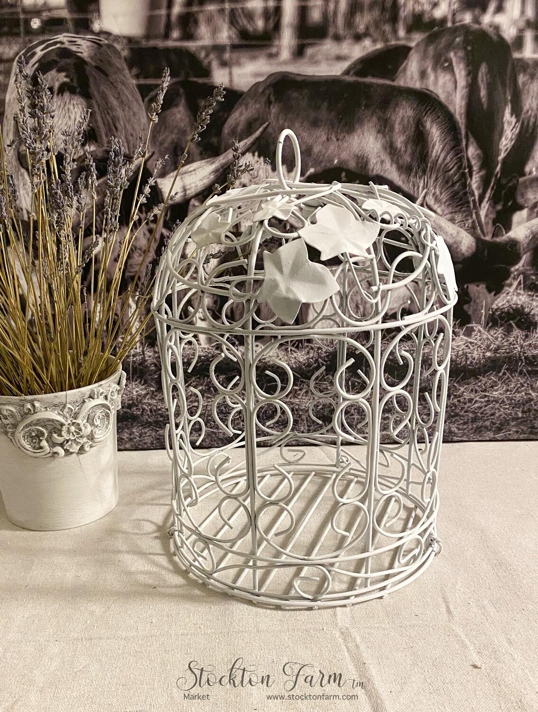 White Decorative Birdcage