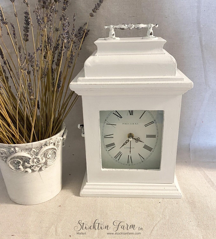 Portclocks London White Mantle Clock