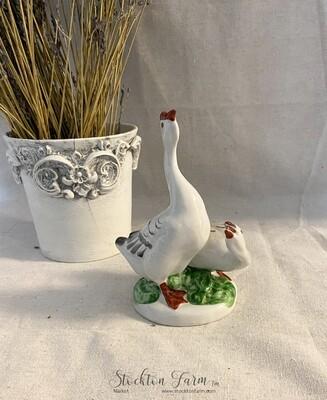 Vintage Verbilki Porcelain Geese Figurine Russia
