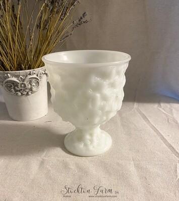 Vintage EO Brody Milk Glass M3000 Planter
