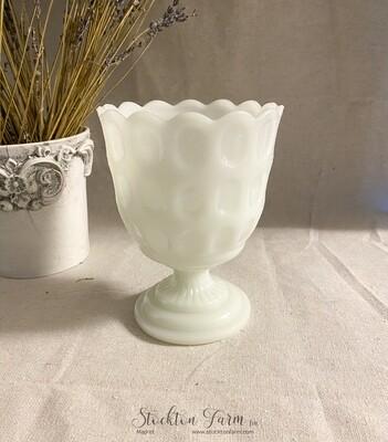 Vintage EO Brody M4200 Milk Glass Pedestal Planter