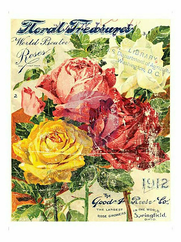 IOD Floral Treasures 11x14 Decor Transfer