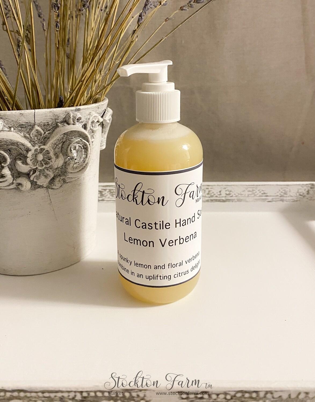 Lemon Verbena Natural Castile Hand Soap 8oz