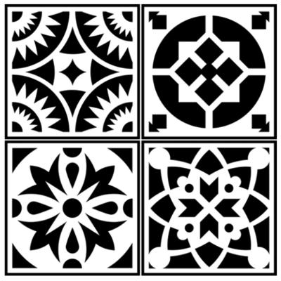 JRV Spanish Tile 4 Pack Stencil
