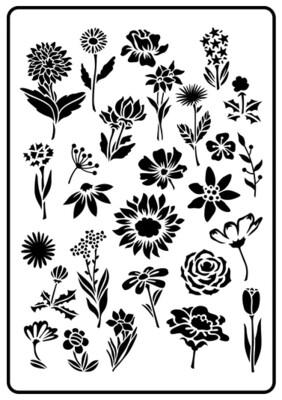 JRV Flower Garden Stencil