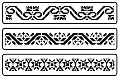 JRV Mexican Embroidery Border Stencil Set