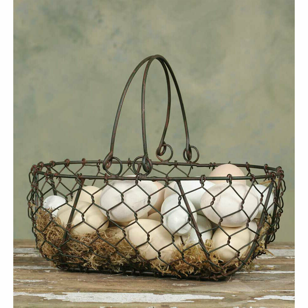 Chicken Wire Gathering Basket