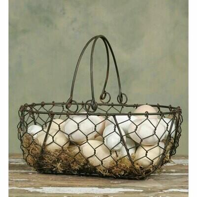Chicken Wire Gathering Basket