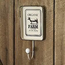 Farm Hook with Decorative Tray