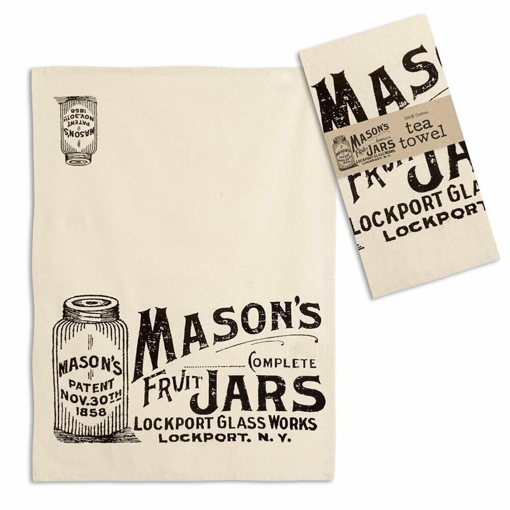 Mason Jars Tea Towel