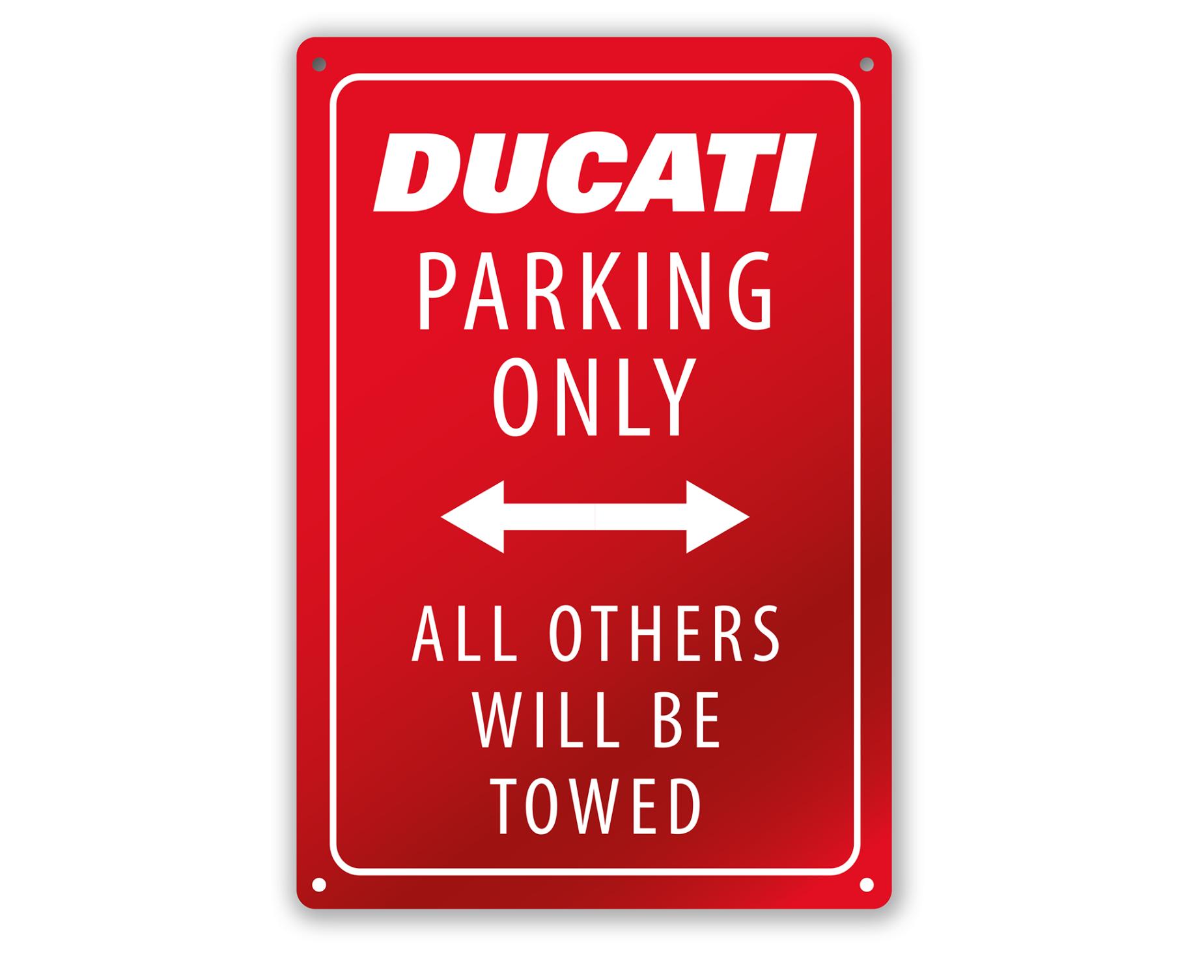 Ducati Parking Red - Metal plate 987700618