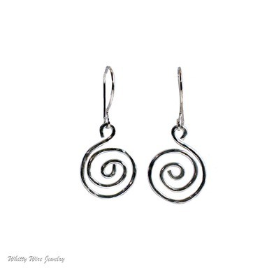 Sterling Silver Celtic Swirl Earrings
