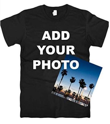 Custom T Shirts Ultra Soft Add Your Photo, Logo for Men & Women Unisex Cotton T Shirt