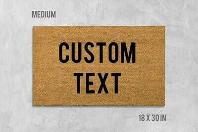 Custom Doormat, Custom Door Mat, Housewarming Gift, Birthday Gift, Funny Doormat, Funny Door Mat, Gift, Custom Words, Custom Text, Custom