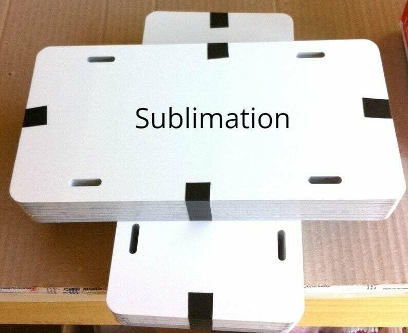 Custom Sublimation License Plate