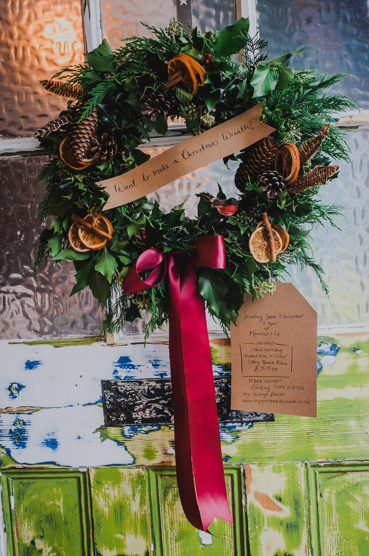 Wreath Workshop - Moruzzi & Co - Sunday 8th Dec