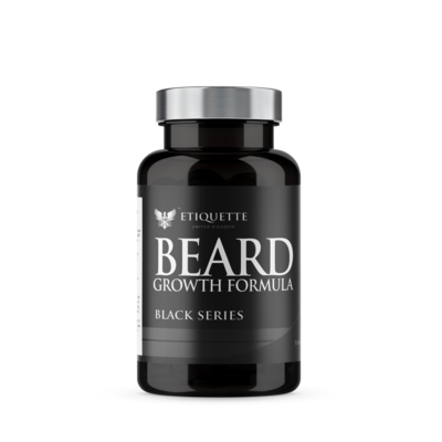 Hairbond® Etiquette - Black Series - Beard (30x Majestic Beard Growth Capsules)