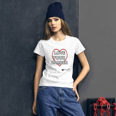 Hairbond® Love Your Barber Women's short sleeve t-shirt