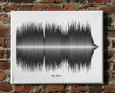 Foo Fighters - My Hero Soundwave Canvas