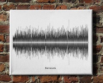 Heart - Barracuda Soundwave Canvas