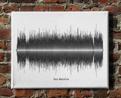 James Brown - Sex Machine Soundwave Canvas