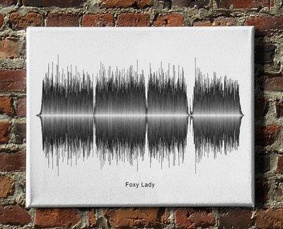 Jimi Hendrix - Foxy Lady Soundwave Canvas