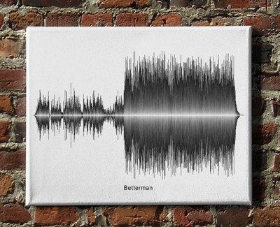 Pearl Jam - Betterman Soundwave Canvas