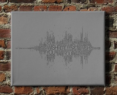 Pink Floyd - Wish You Were Here Textwave Canvas