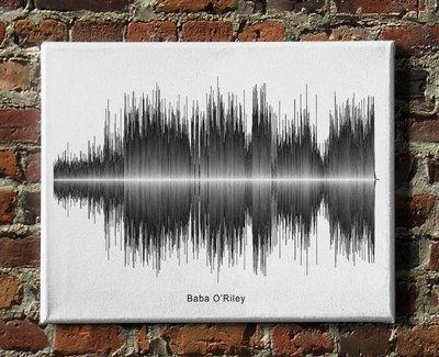 The Who - Baba O'Riley Soundwave Canvas