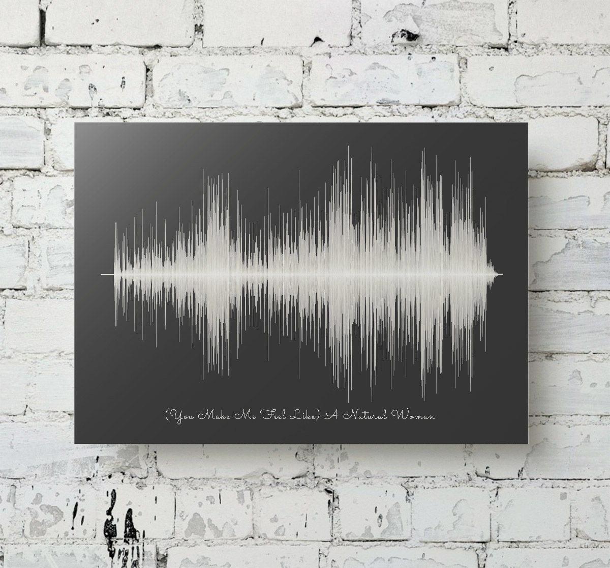 Aretha Franklin Natural Woman Soundwave Metal