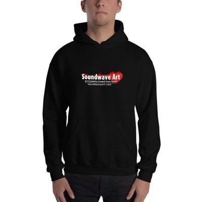 Soundwave Art™ Hooded Sweatshirt w/app icon on back