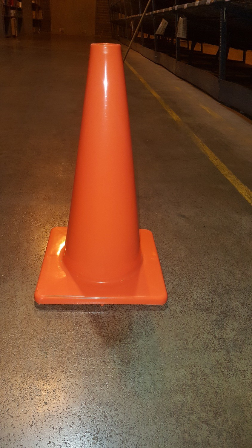 "Boundary Cones, 18"" high, orange"
