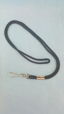 Lanyard, Whistle, nylon, with metal swivel hook, assorted colors