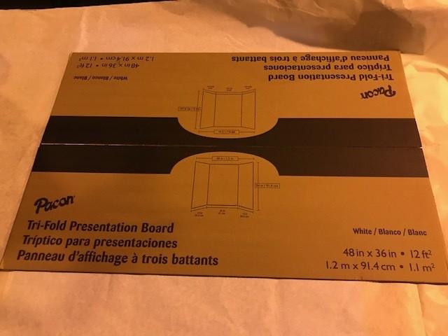 """Project/Display Boards, 36"""" x 48"""", Tri-Fold"""