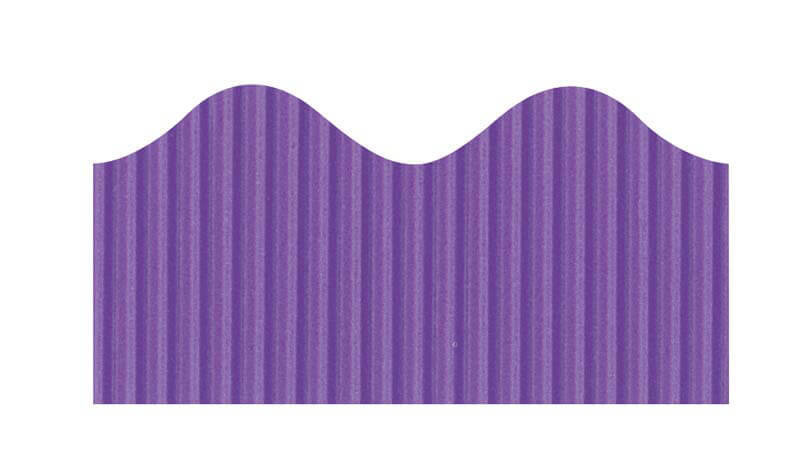 "Bordette, Violet, Pre-Scalloped border 2 1/4"" x 50' rolls"