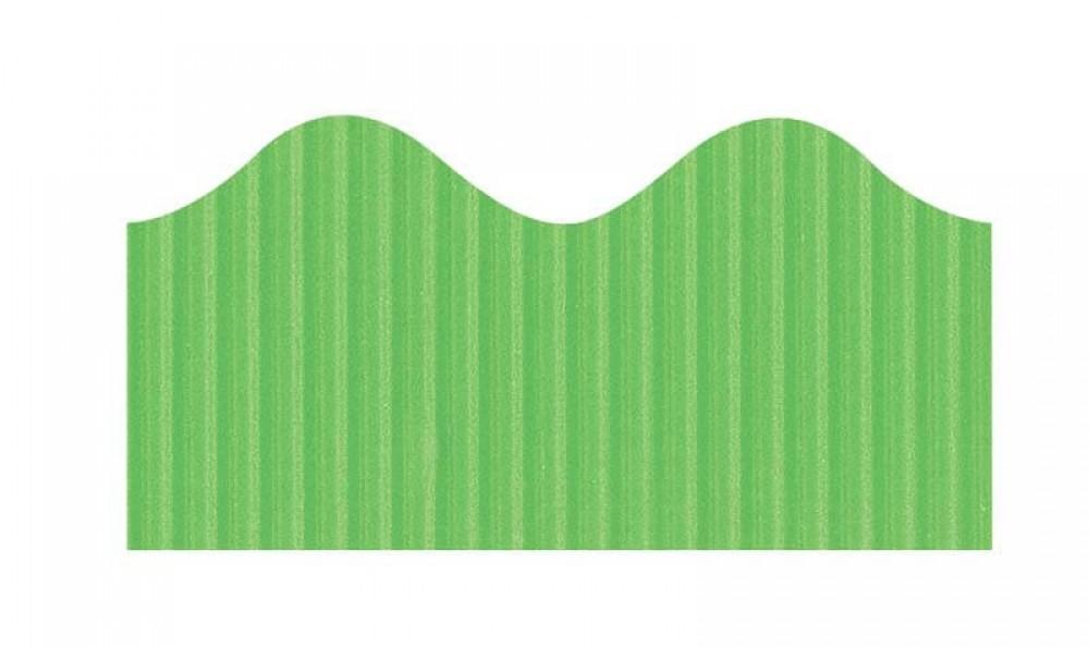 """Bordette, Nile Green, Pre-Scalloped border 2 1/4"""" x 50' rolls"""