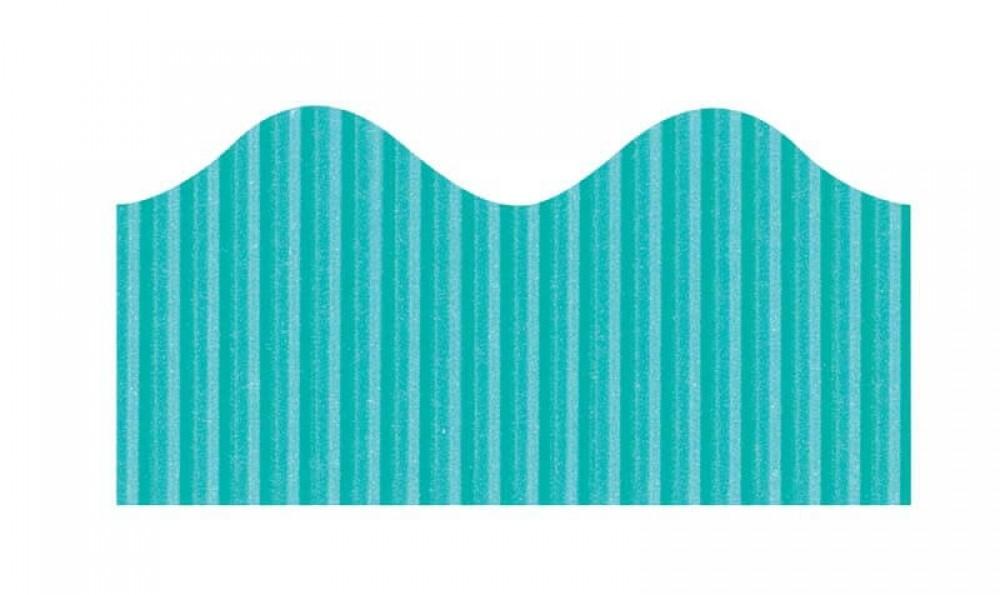 "Bordette, Azure Blue, Pre-Scalloped border 2 1/4"" x 50' rolls"
