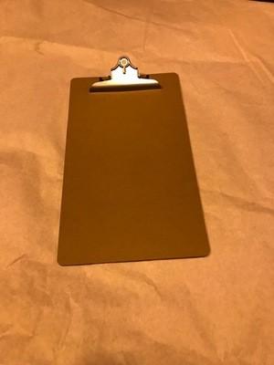 Clip Board, Legal Size, Brown 1/8